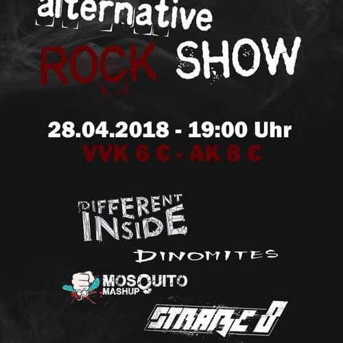 Tickets kaufen für Different Inside, Mosquito Mashup, Straße 8, Dinomites am 28.04.2018